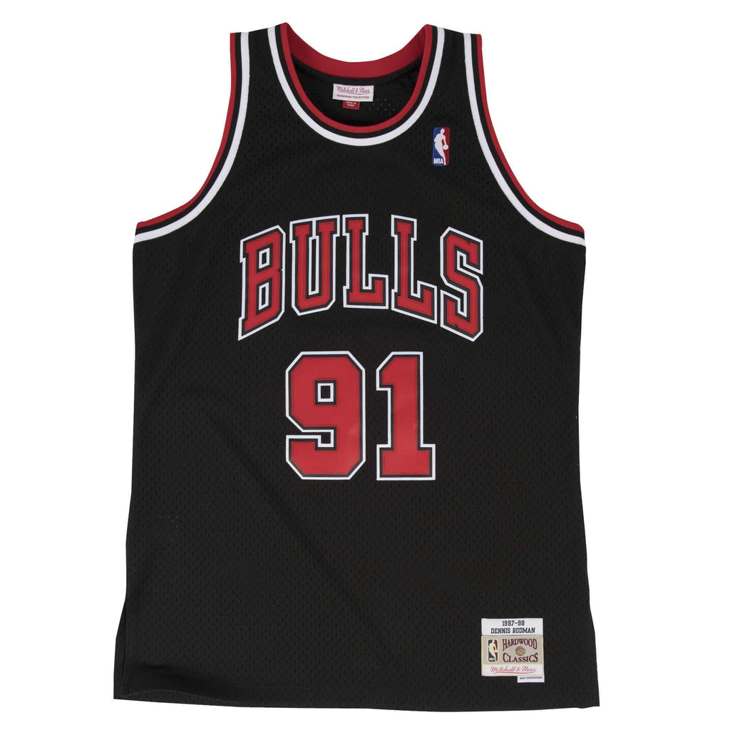Dennis Rodman Hardwood Classic Jersey (1997-98 Bulls Black) Big and Tall