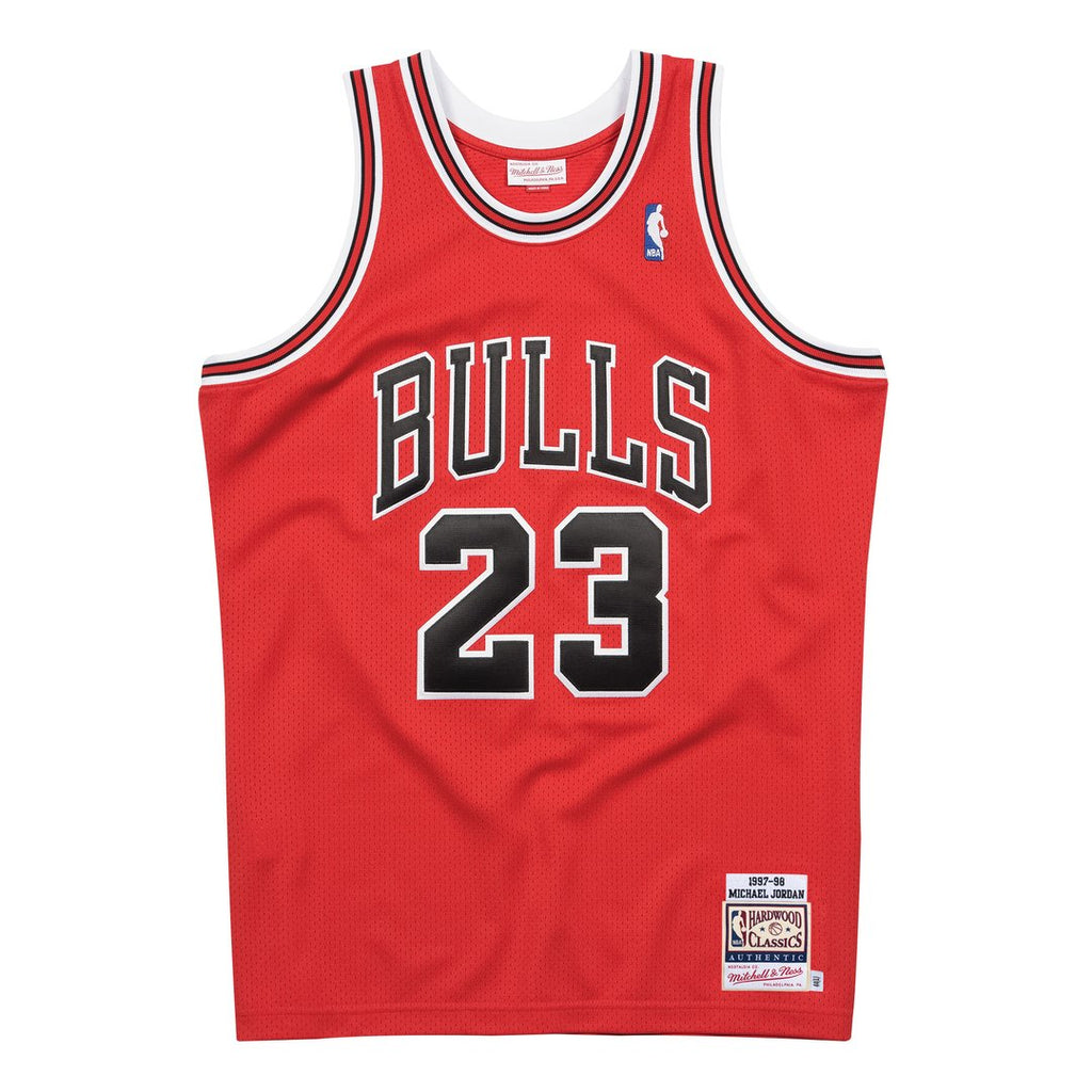 Chicago Bulls 1997/98 Authentic Jersey Jordan (Road Red)