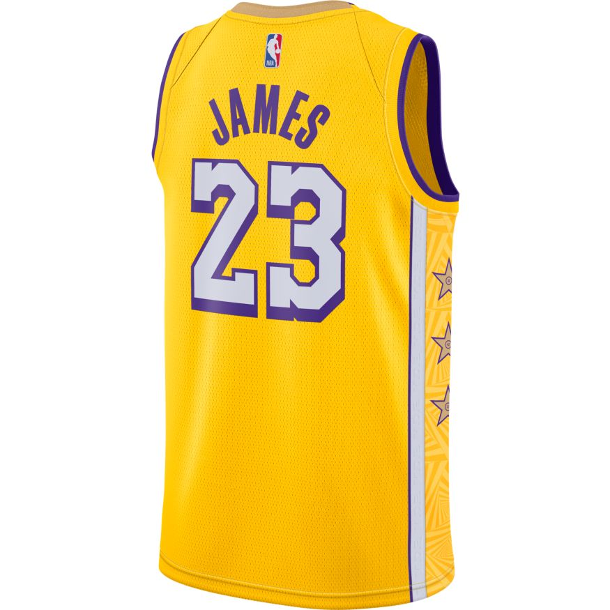 Lebron James City Edition Swingman Jersey (Lakers)