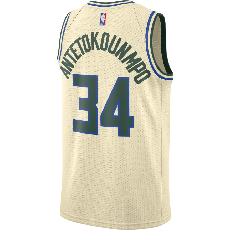 Giannis Antetokounmpo City Edition Swingman Jersey (Bucks)