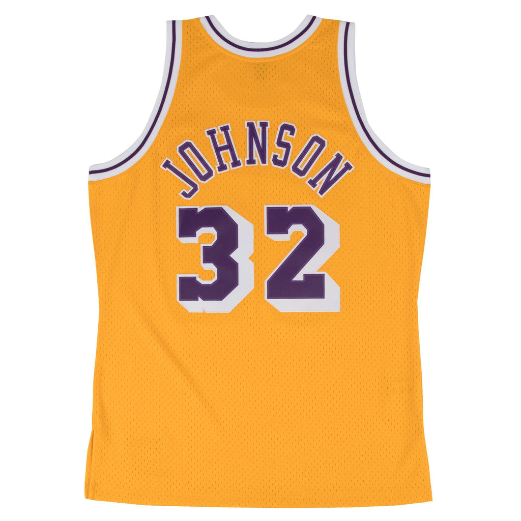 Magic Johnson Hardwood Classic Jersey (1984/85 Lakers Yellow) New Cut