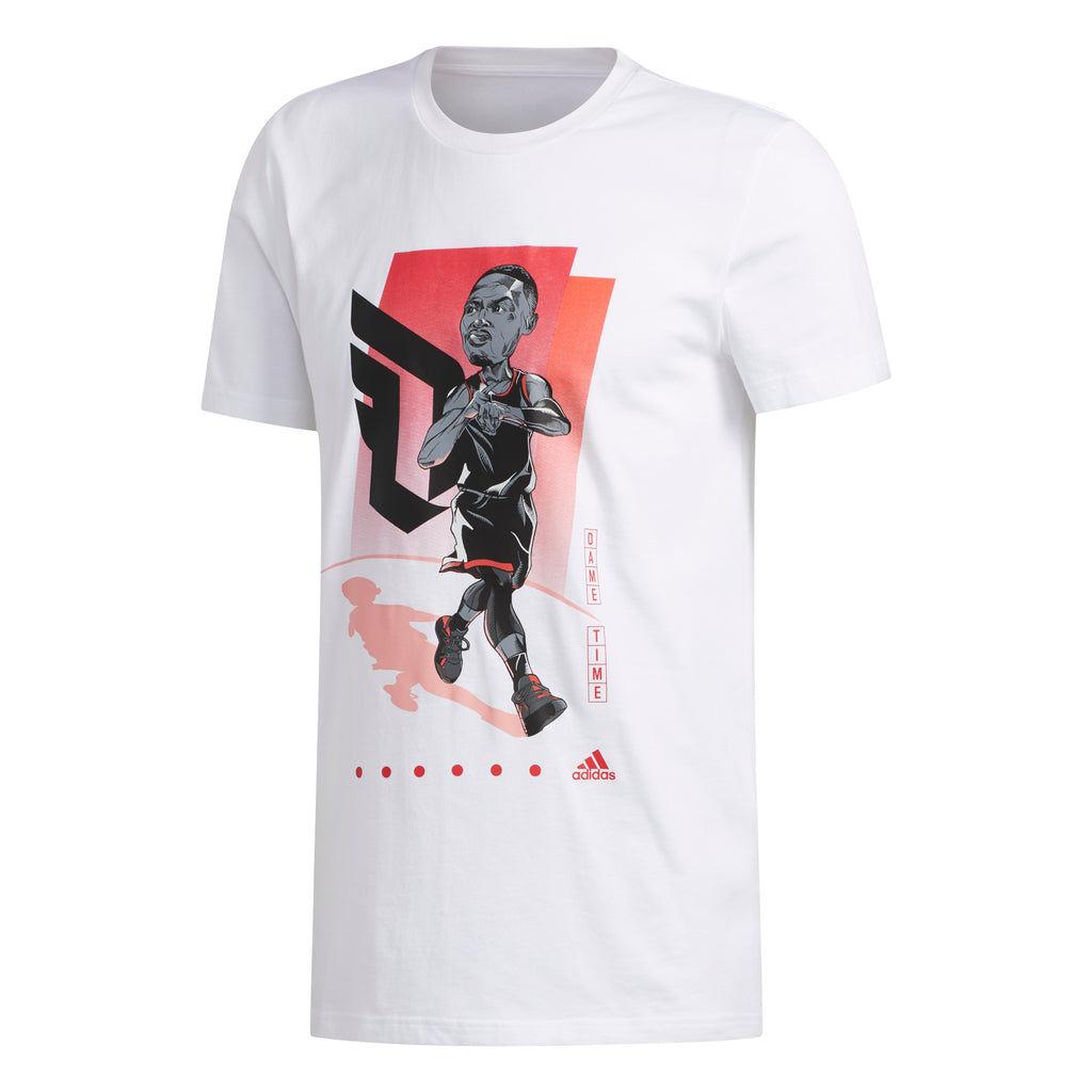 Adidas Geek Up Tee Dame Lillard (White) FM4774