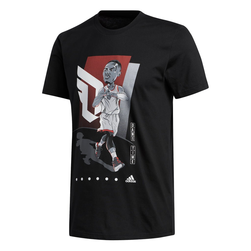 Adidas Geek Up Tee Dame Lillard (Black) - FM4775