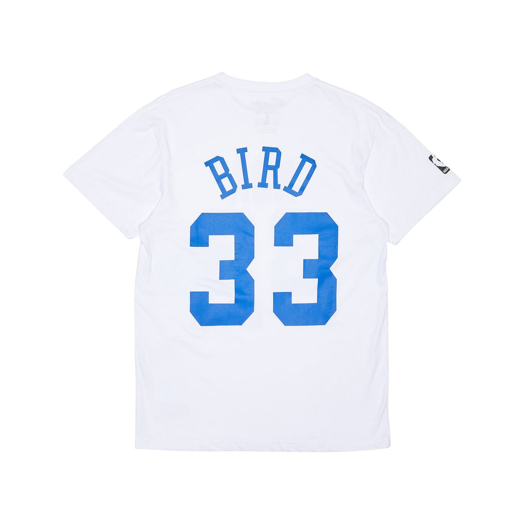M&N 1985 All Star Name & Number Tee - Larry Bird (White)