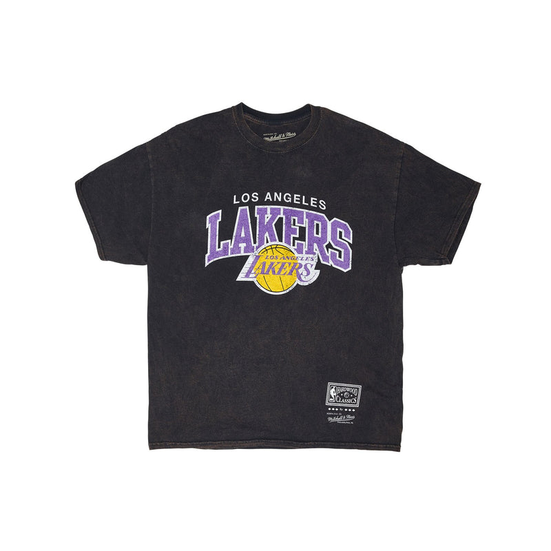 Vintage Arch SS Tee Black - Los Angeles Lakers
