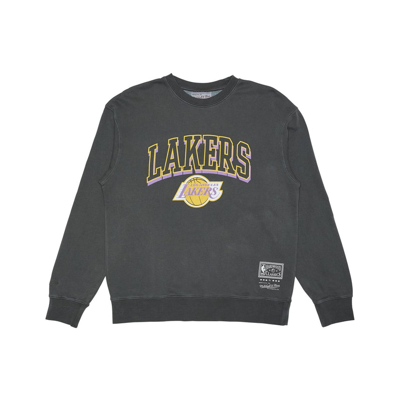 Vintage Keyline Logo Crew Los Angeles Lakers (Faded Black)