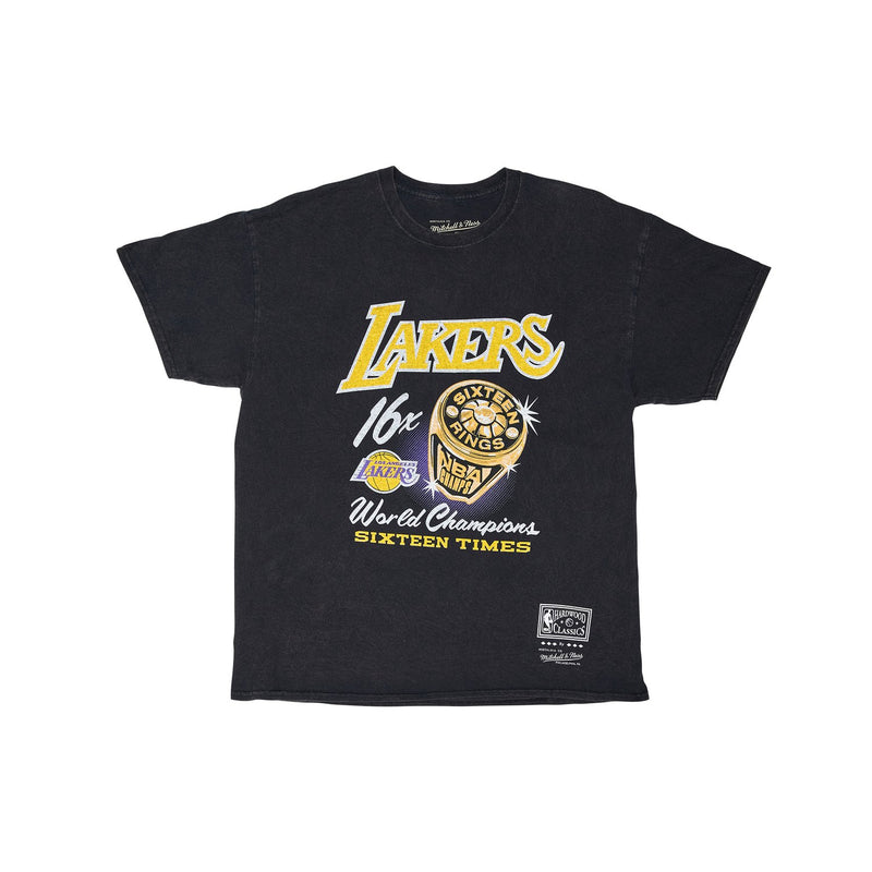 Bling Ring SS Vintage Tee Black - Los Angeles Lakers