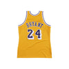 Los Angeles Laker 07/08 Authentic Jersey Kobe Yellow (60th Patch)