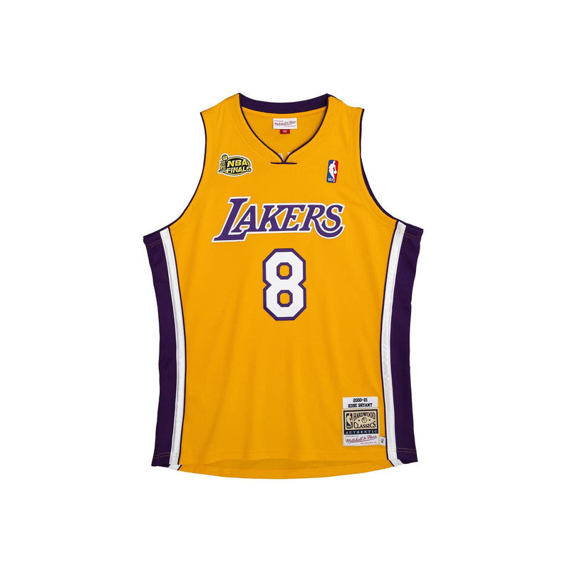 Los Angeles Laker 2000/01 Authentic Jersey Kobe Yellow (Finals Patch)