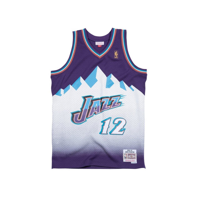 John Stockton Hardwood Classic Jersey (96/97 Jazz Purple) New Cut