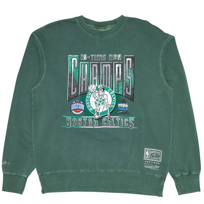 M&N Vintage Champions Crew Boston Celtics (hunter green)