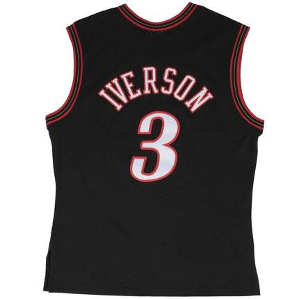Allen Iverson Hardwood Classic Jersey (2000/01 76ers Black) Big and Tall