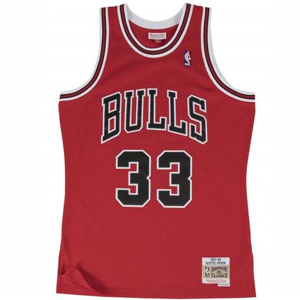 Scottie Pippen Hardwood Classic Jersey (97-98 Bulls Red) Big and Tall