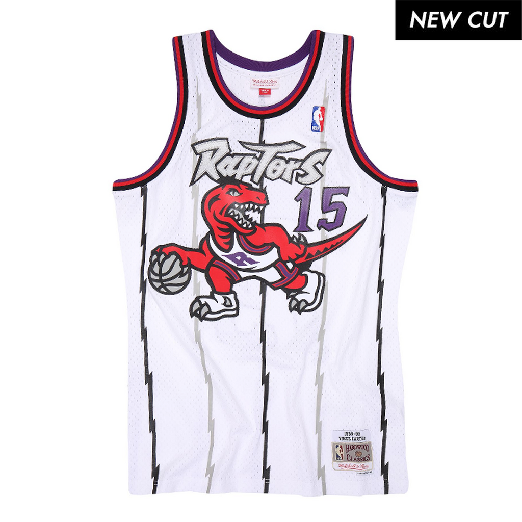 Vince Carter Hardwood Classic Jersey (1998/98 Raptors White) New Cut