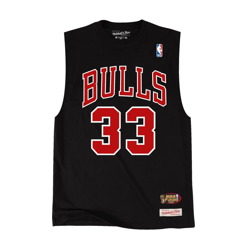 Chicago Bulls Black Muscle Tee (Scottie Pippen)