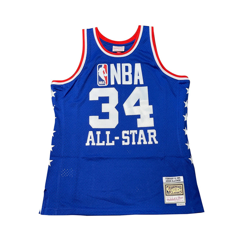 Hakeem Olajuwon Hardwood Classic All Star Jersey Royal (West-85)