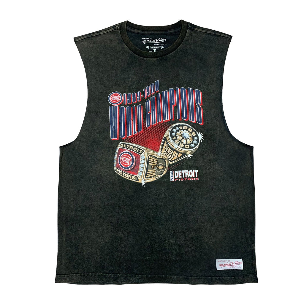 M&N Vintage Championship Muscle Tee 89/90 (Detroit Pistons)