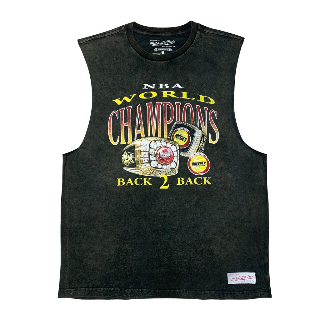 M&N Vintage Championship Muscle Tee Back 2 Back (Houston Rockets)