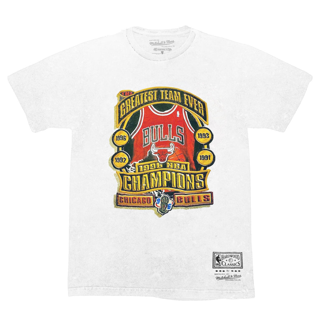 Greatest Team Ever SS Vintage Tee White - Chicago Bulls
