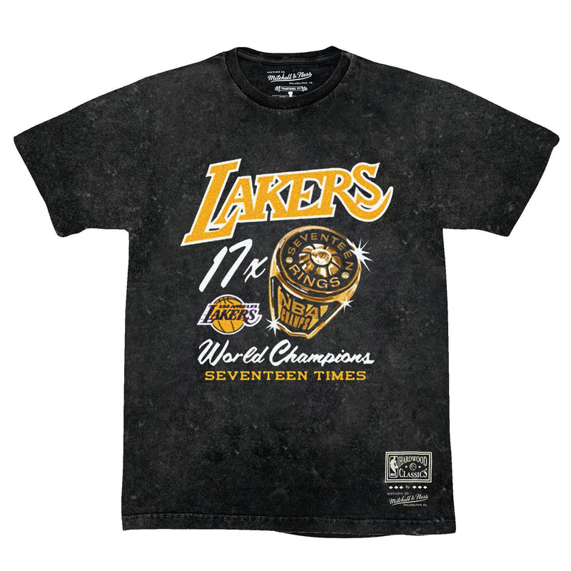 Bling Ring SS 17x Champs Vintage Tee Black - Los Angeles Lakers
