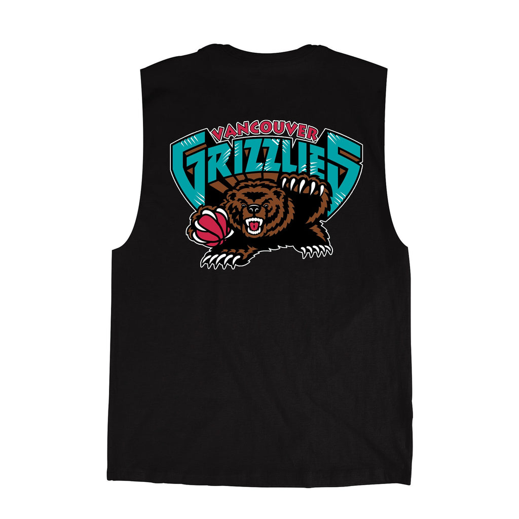 Vancouver Grizzlies Retro Repeat Logo Muscle Tee