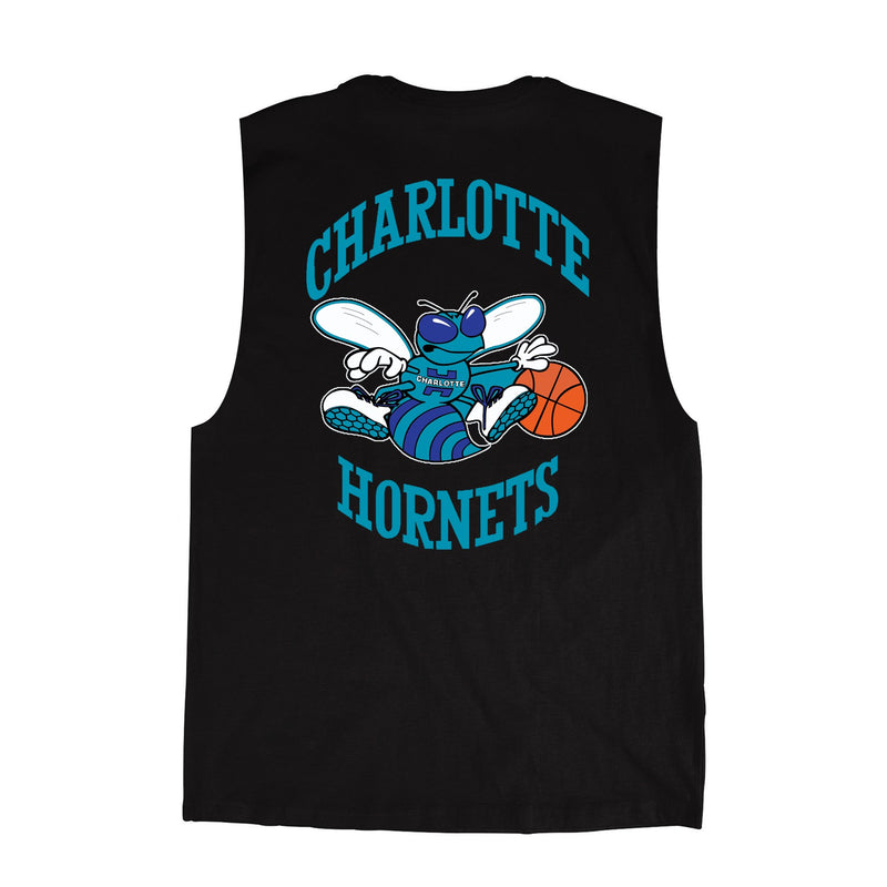Charlotte Hornets Retro Repeat Logo Muscle Tee