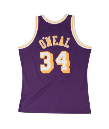 Shaquille O'Neal Hardwood Classic Jersey (1996/97 Lakers Purple) Big and Tall