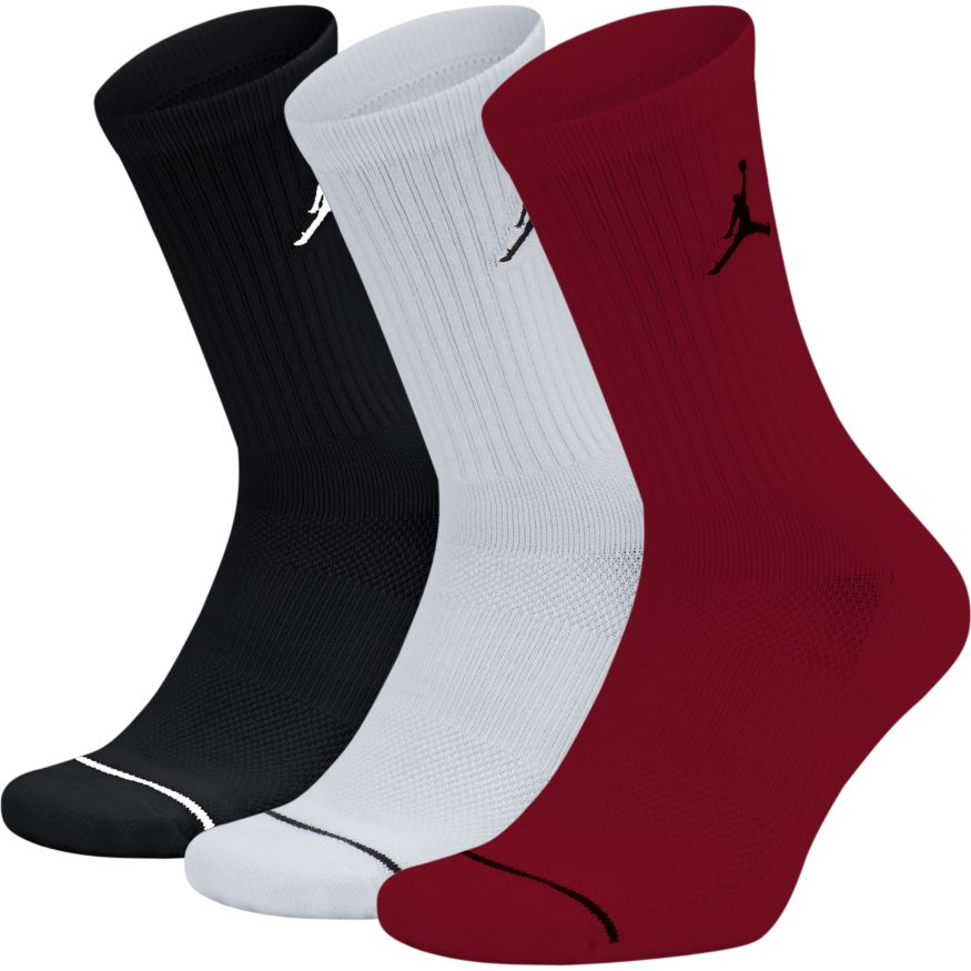 Jordan 3pk Crew Sock Black/White/Red - SX5545-011