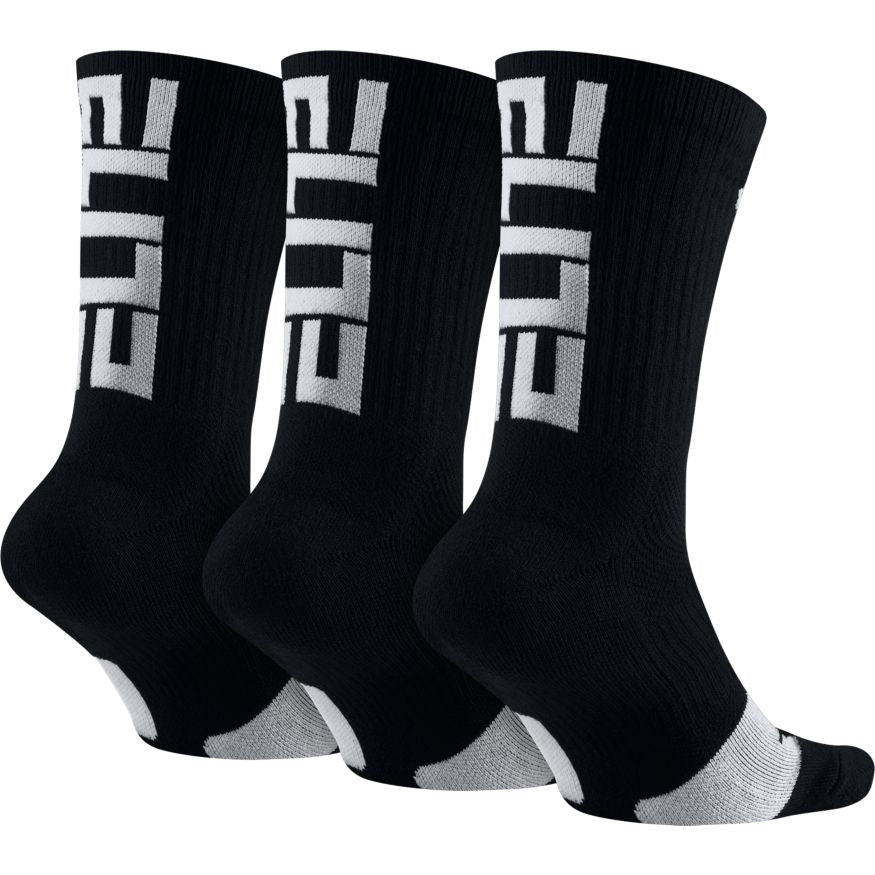 Nike Elite Crew 3Pk (Black/White)