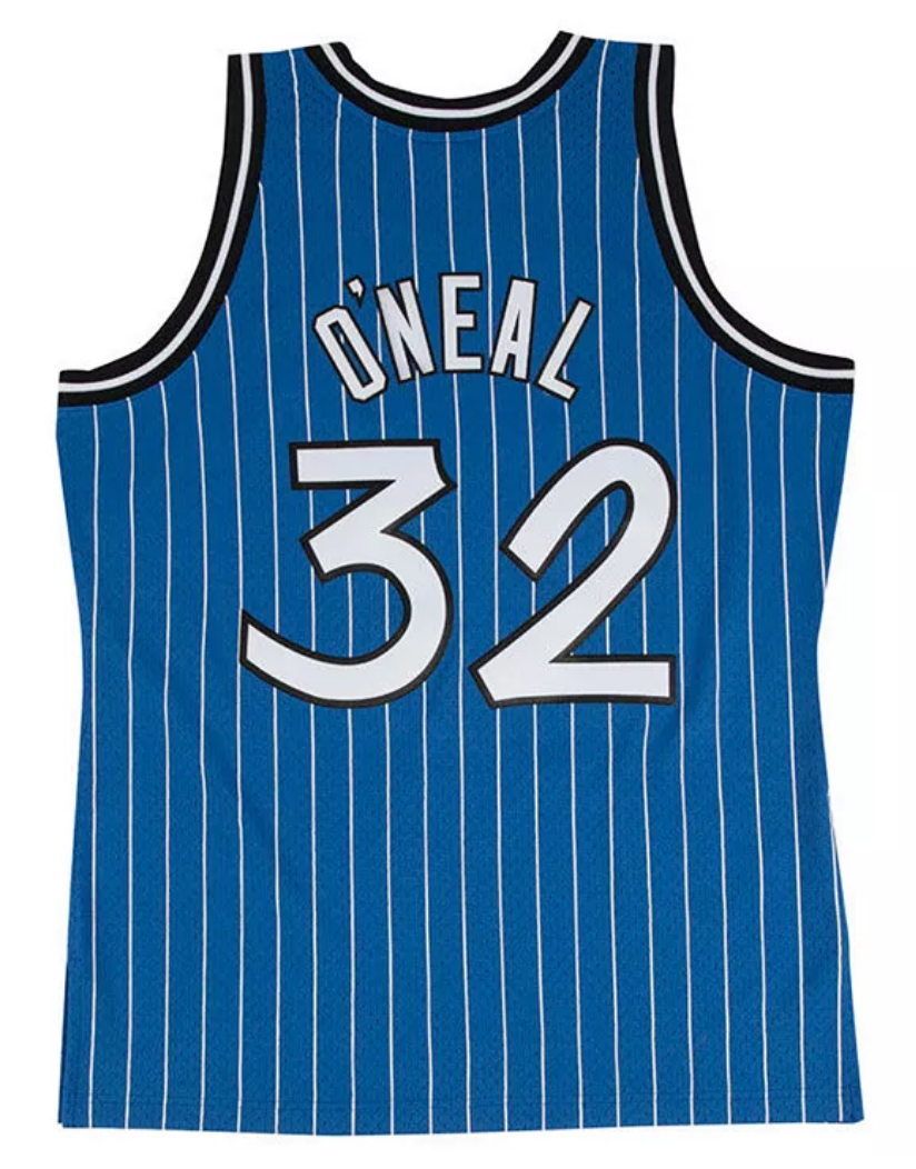 Shaquille O'Neal Hardwood Classic Jersey (1994-95 Orlando Magic Blue) New Cut