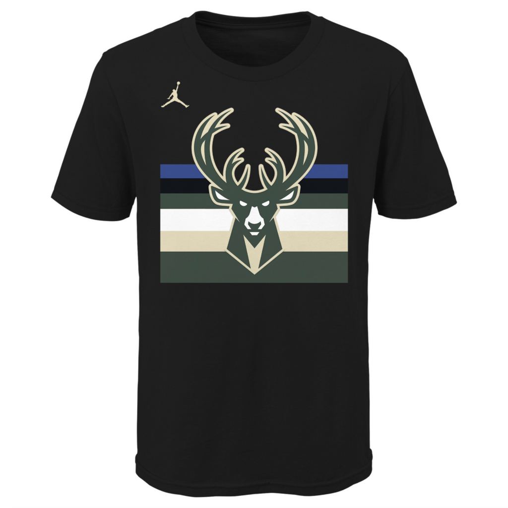 Youth NBA Essential Wordmark Tee Statement Edition (Milwaukee Bucks)