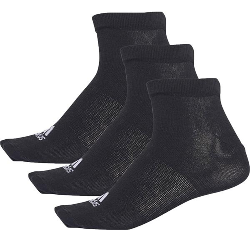 Adidas 3pk No-Show Sock Black