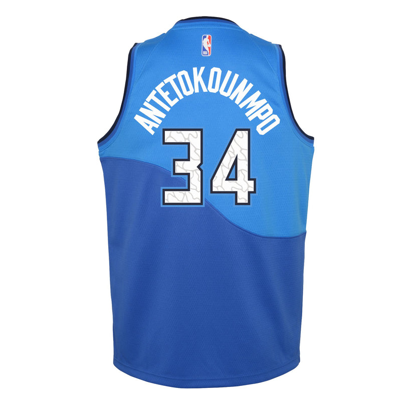 Youth Giannis Antetokounmpo City Edition Jersey (Bucks)