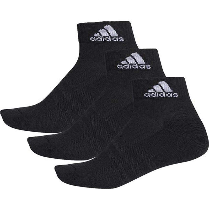 Adidas 3pk Ankle Sock Black