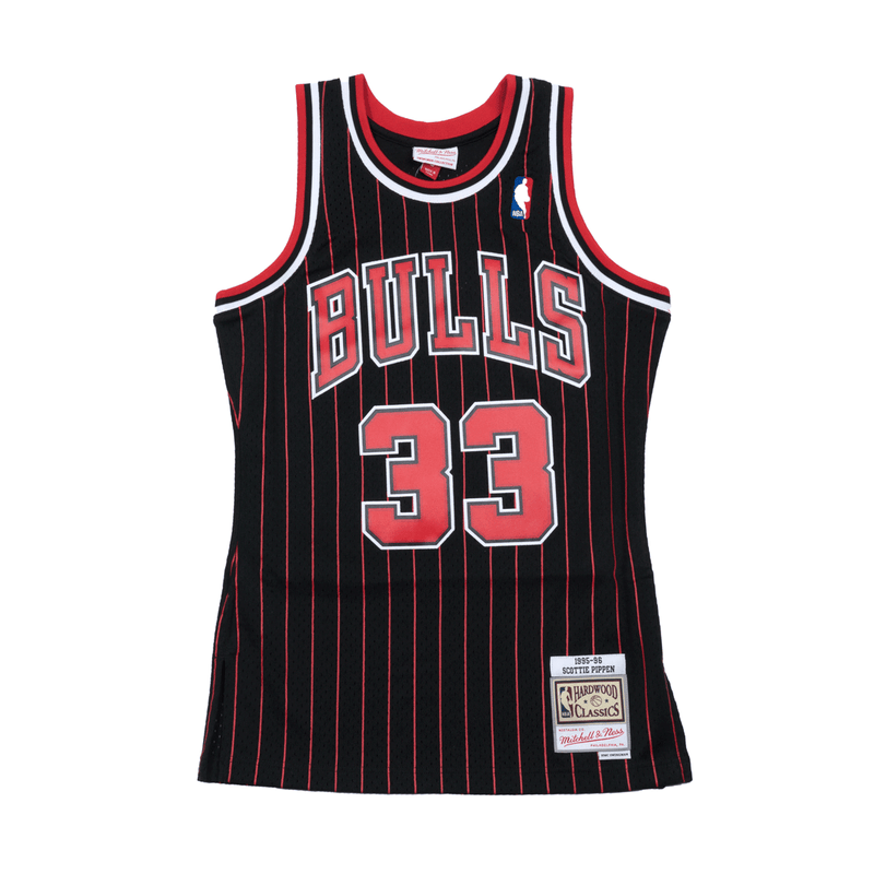 info for 534bf 32fd2 Scottie Pippen Hardwood Classic Jersey Black Pinstripe (Chicago Bulls)