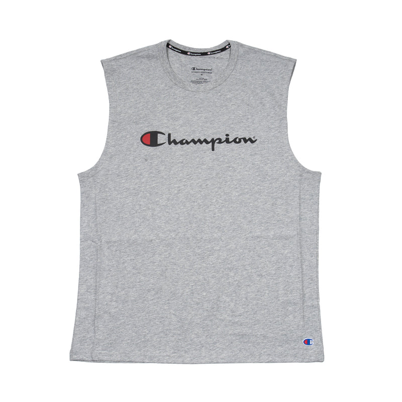 Champion Script Muscle Tee Grey