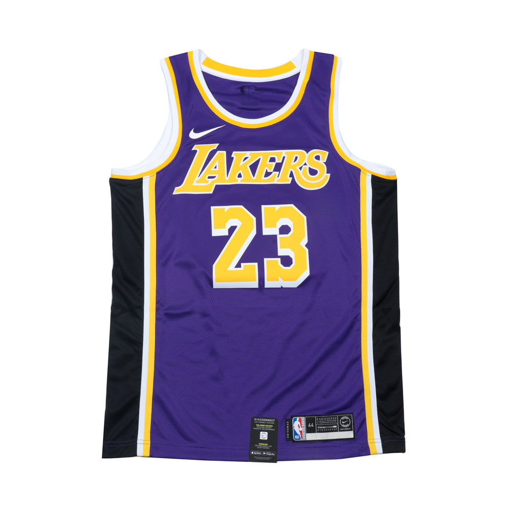 2226cbc5988 Lebron James Statement Edition Swingman Jersey (Lakers) – Hoops Heaven