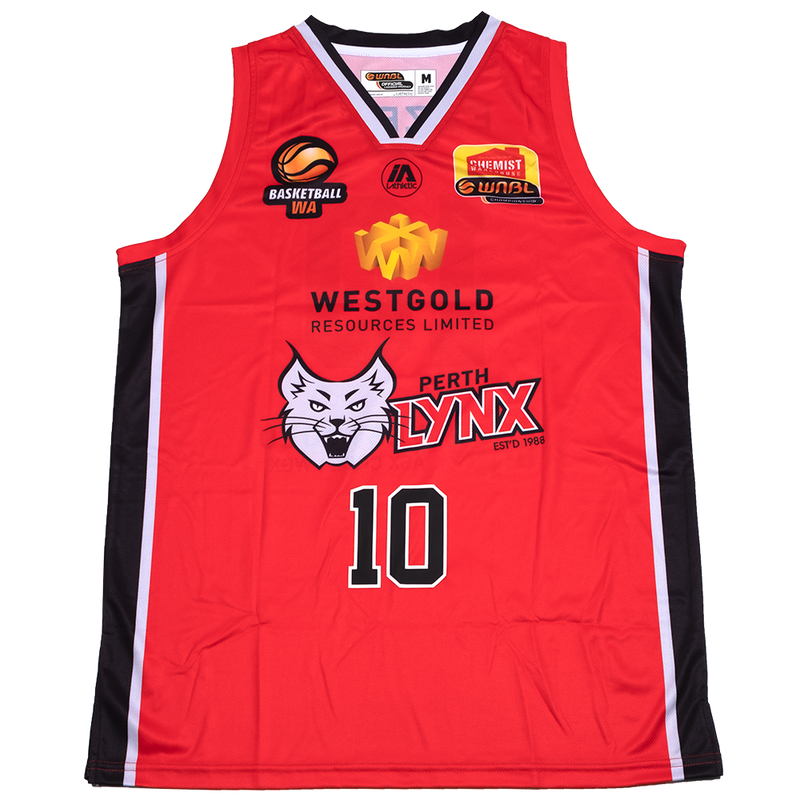 iAthletic Perth Lynx Replica Jersey 20/21 Home (Red) Ebzery