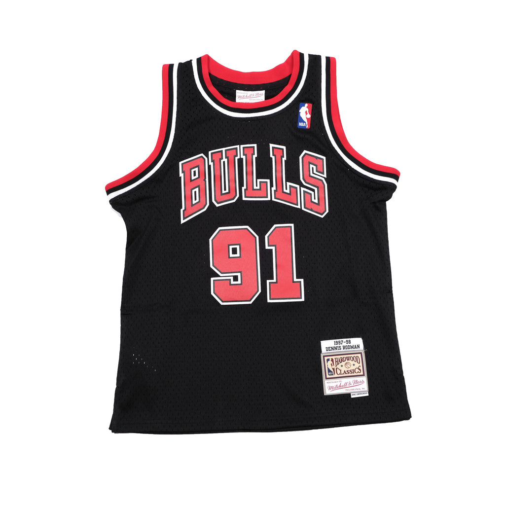 Youth Dennis Rodman Hardwood Classic Swingman 97/98 Bulls Black