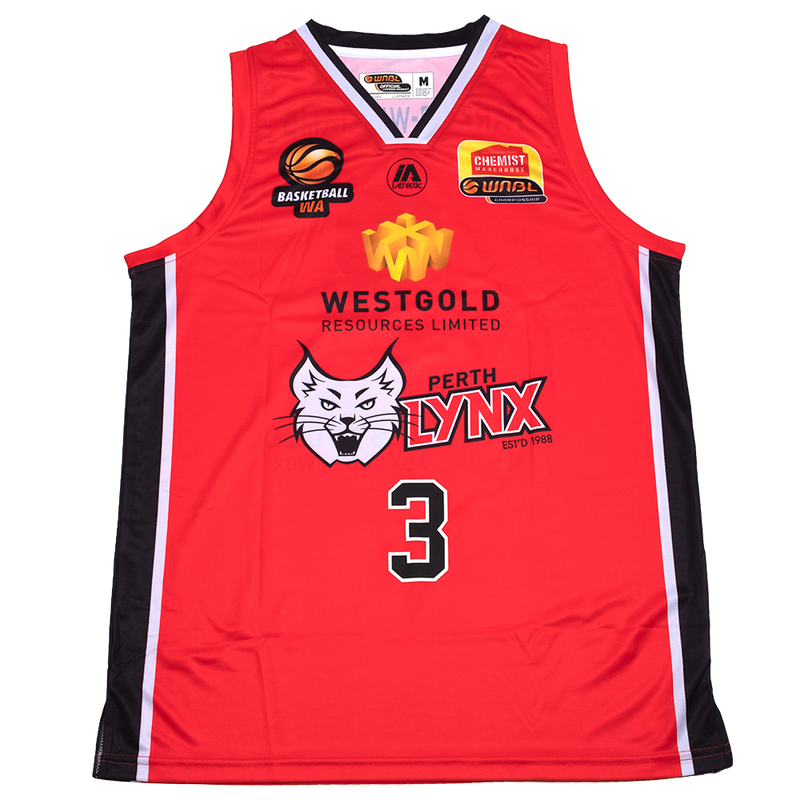 iAthletic Perth Lynx Replica Jersey 20/21 Home (Red) Parker-Williams