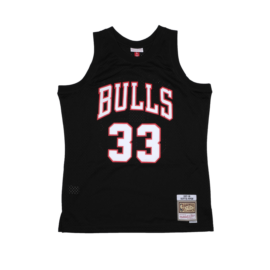 ScottIe Pippen Hardwood Classic Black Team Colour Jersey (Bulls 97-98)
