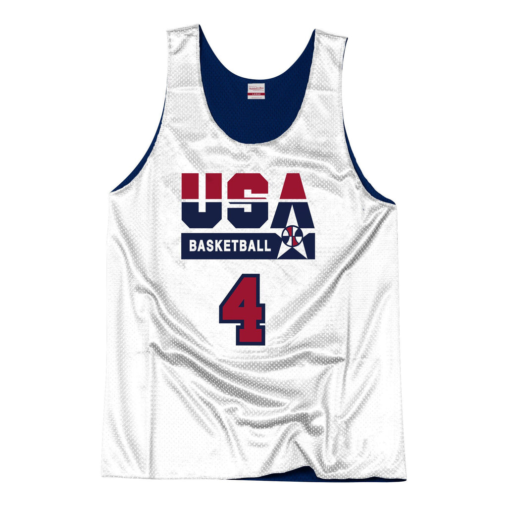 Team USA 1992 Reversible Practice Jersey Laettner 4