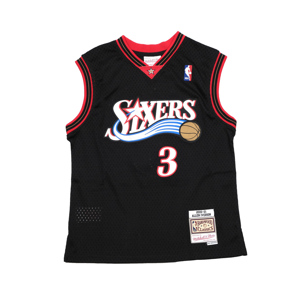 Youth Allen Iverson Hardwood Classic Swingman 00/01 76ers Black
