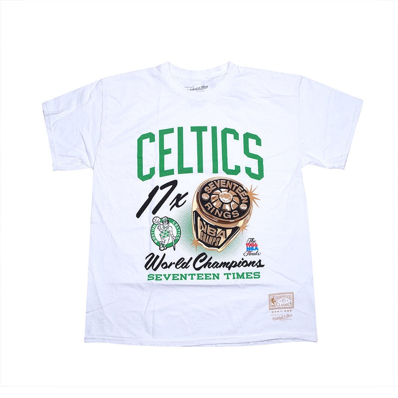 Bling Ring SS Vintage Tee White - Boston Celtics