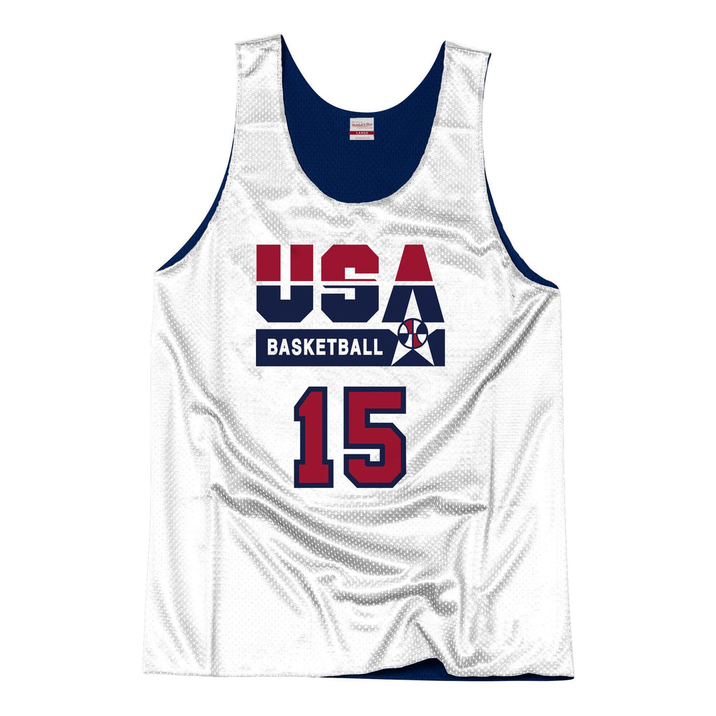 Team USA 1992 Reversible Practice Jersey Johnson 15
