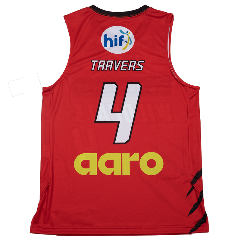 Champion Perth Wildcats 20/21 Authentic Home Jersey - Luke Travers