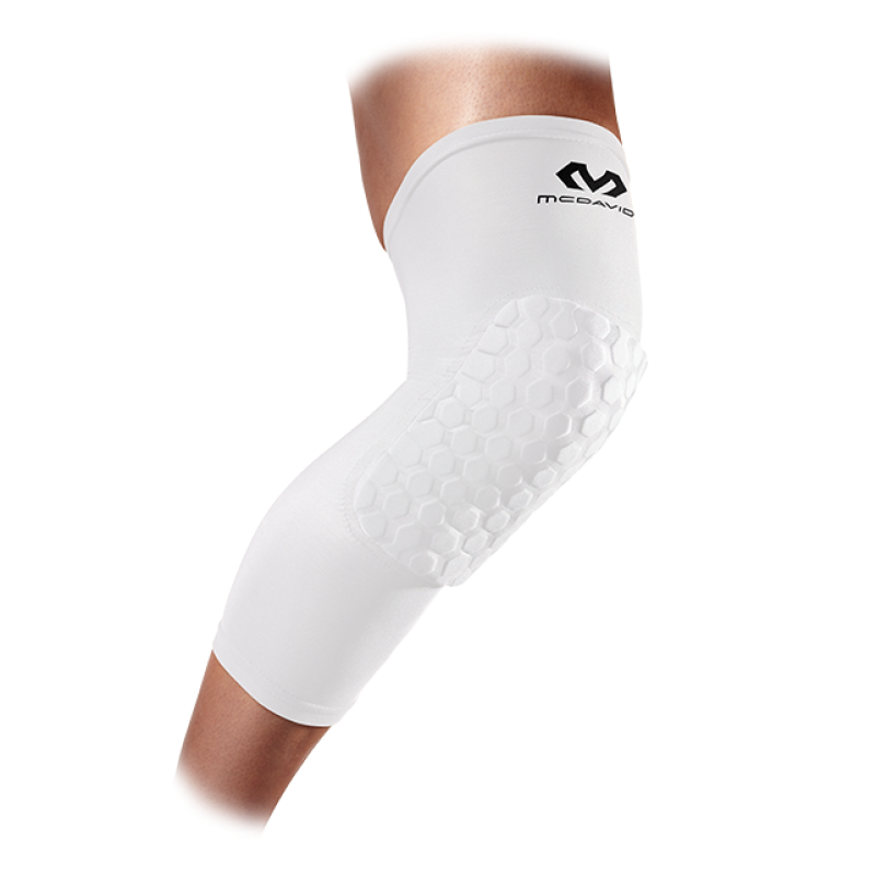 McDavid Youth Hex Extended Leg Sleeve Pair (White)