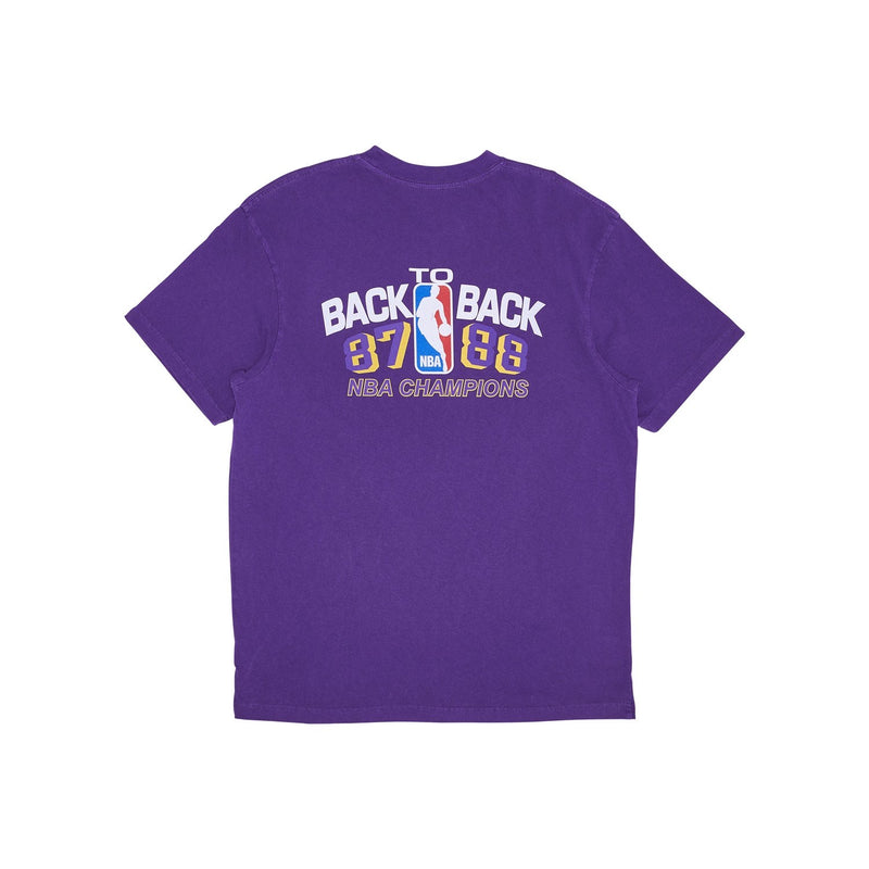 M&N Vintage Back to Back Tee Lakers (Faded Purple)