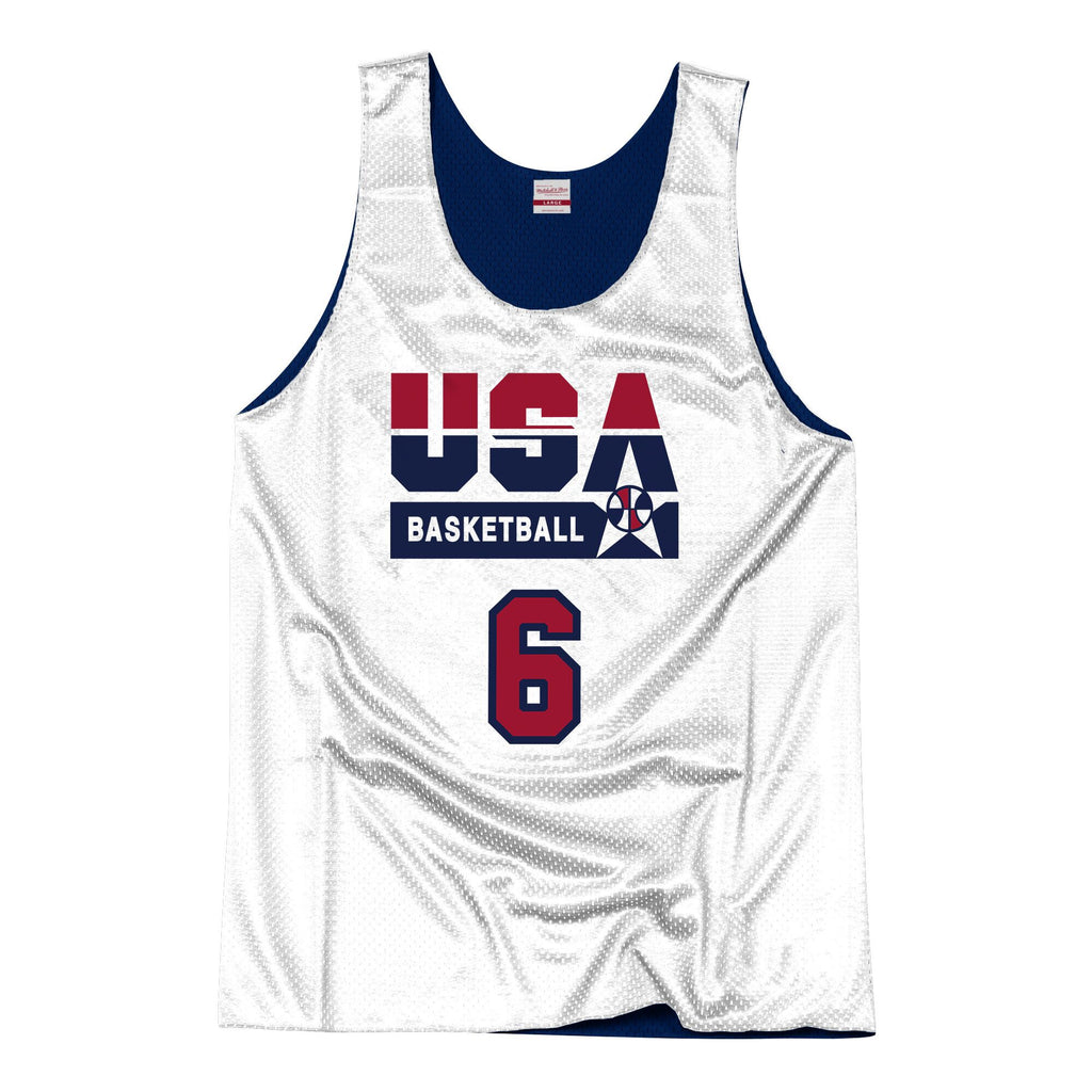 Team USA 1992 Reversible Practice Jersey Ewing 6