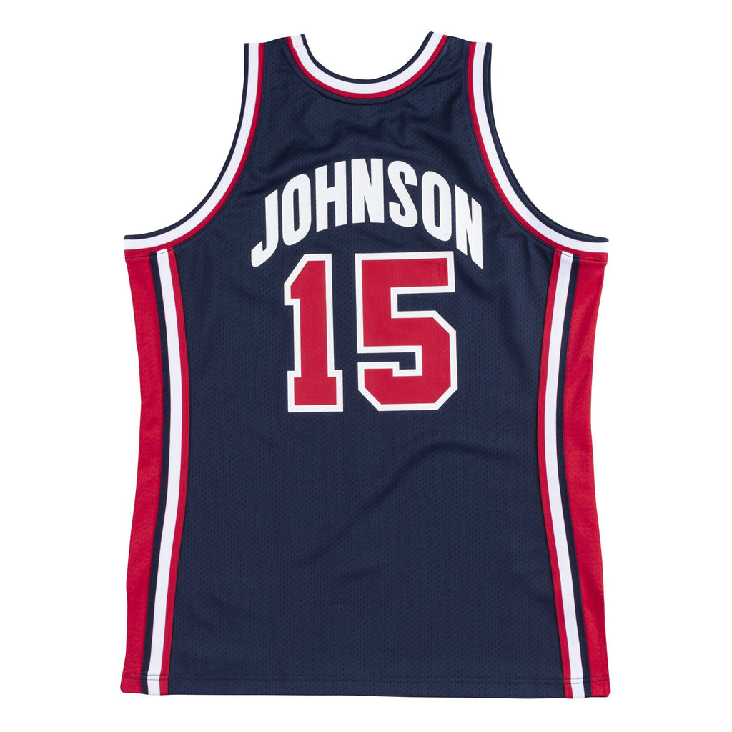 Team USA 1992 Authentic Jersey Johnson (Navy)